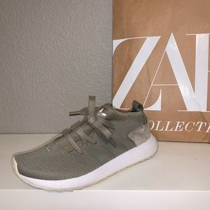 Olive green adidas sneakers